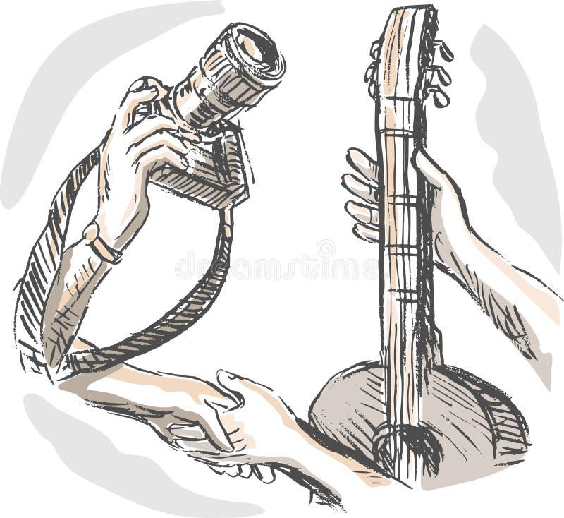 выменяйте торговлю обмена гитары камеры бесплатная иллюстрация