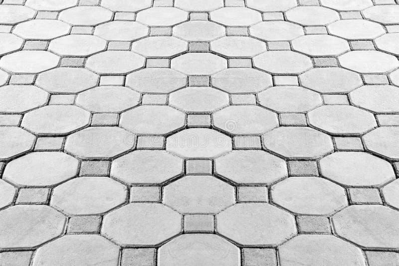 Вымощать дорожку кирпича шестиугольника стоковое изображение