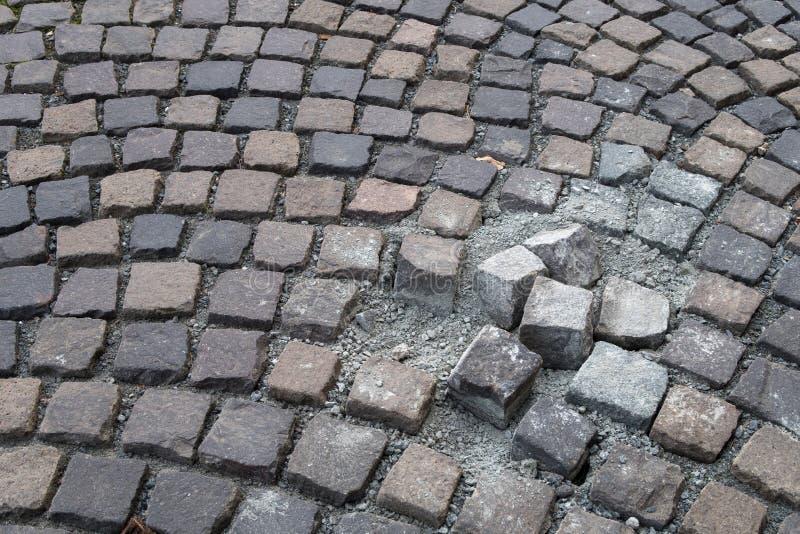Вымощая камень - coblestone стоковые изображения rf
