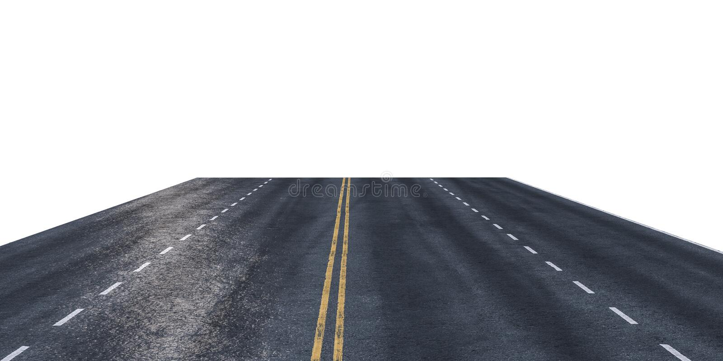 Вымощенная дорога изолированная на белой предпосылке иллюстрация вектора