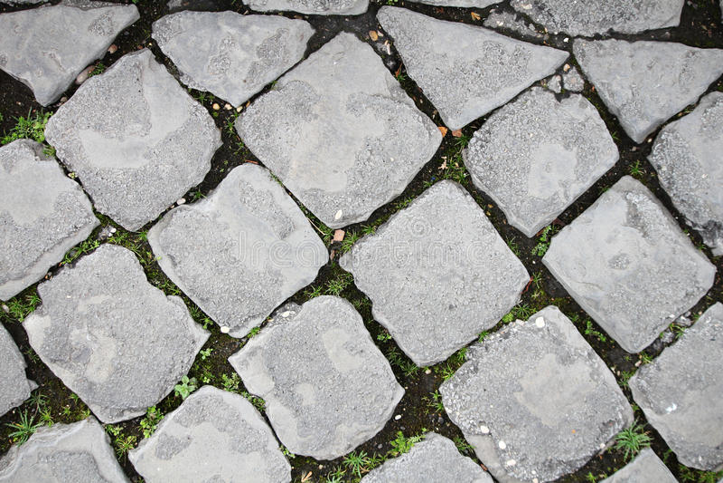 Вымощенная дорога в Риме стоковая фотография