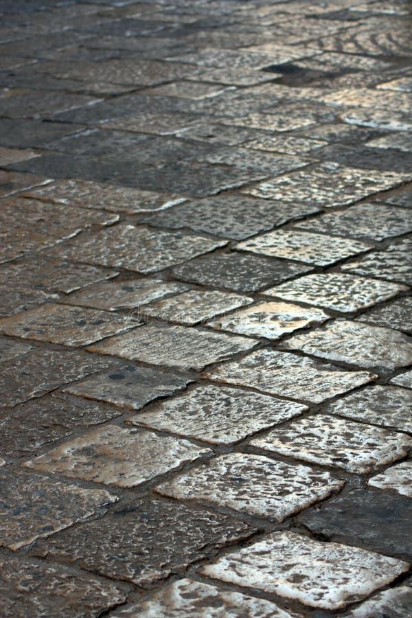 вымощенная улица стоковое изображение rf