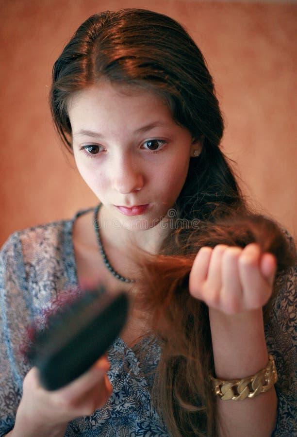 Выпадение волос стоковые фотографии rf