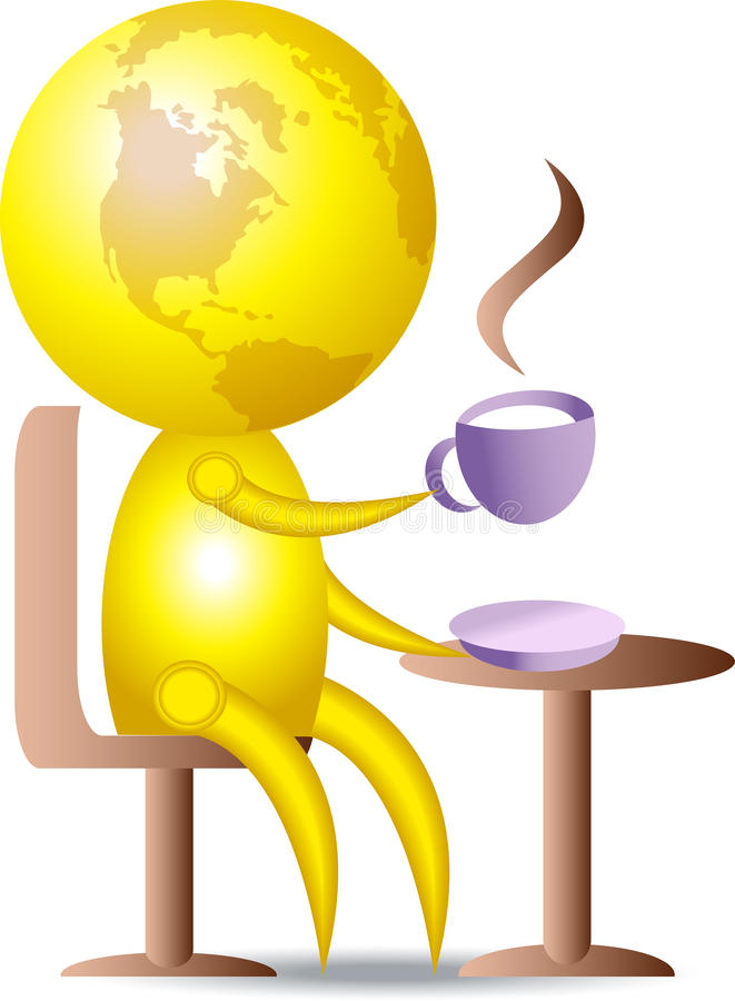 выпивать кофе иллюстрация штока