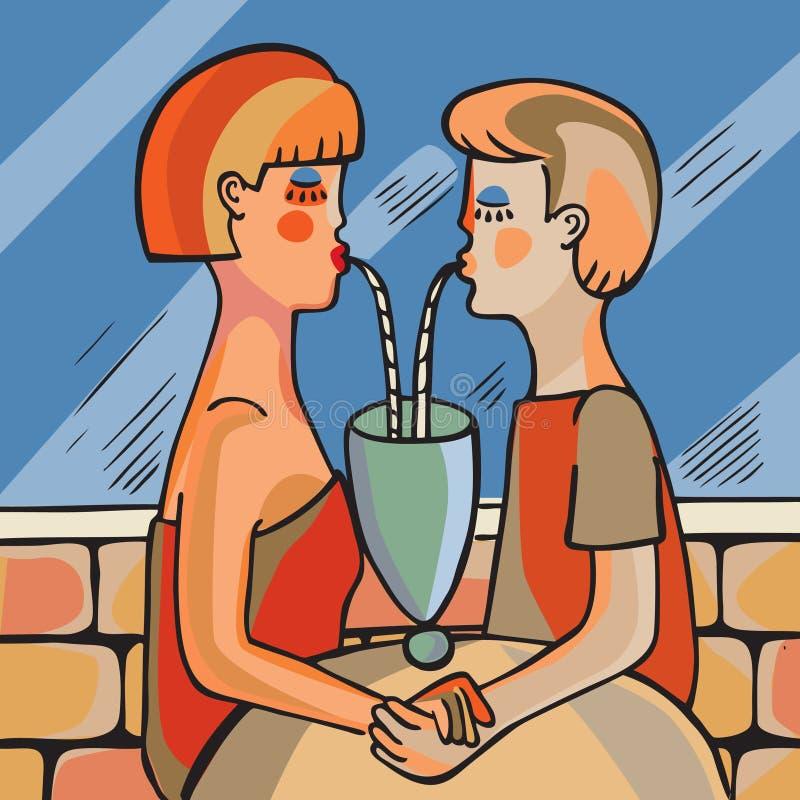 выпивать пар бесплатная иллюстрация