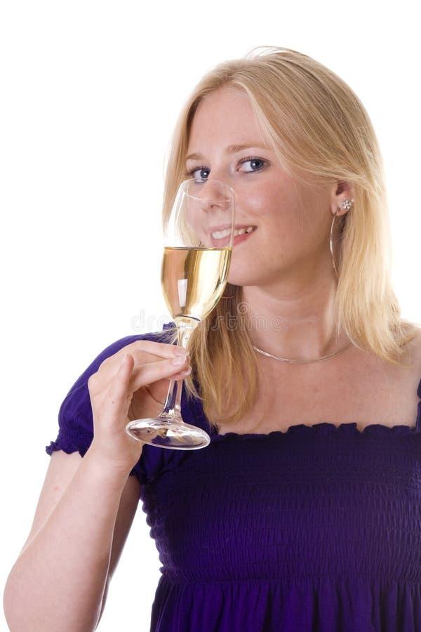 выпивать шампанского стоковая фотография