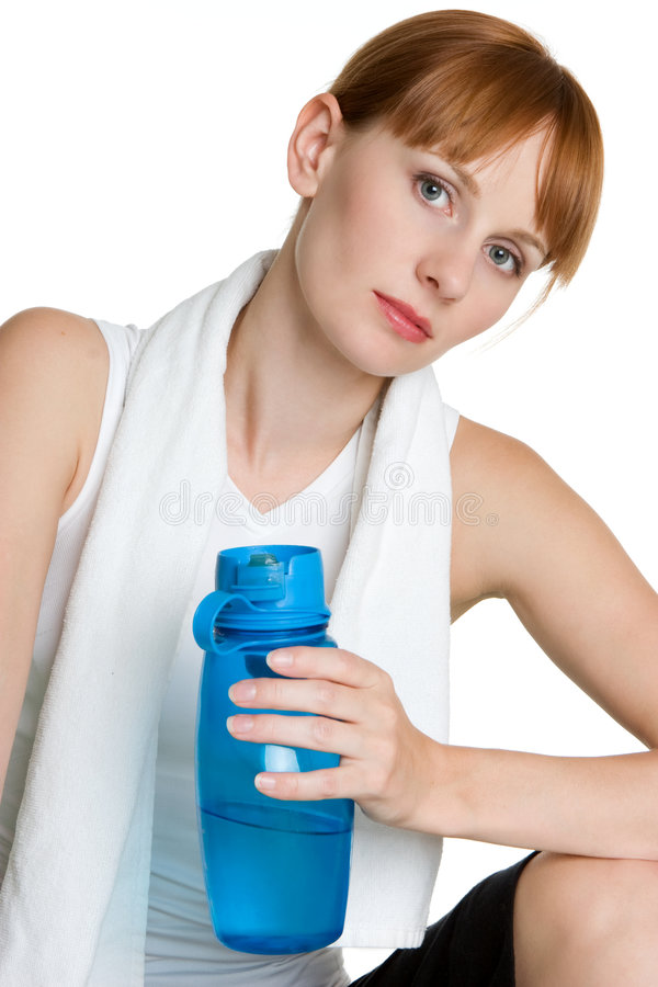 выпивая вода персоны стоковая фотография