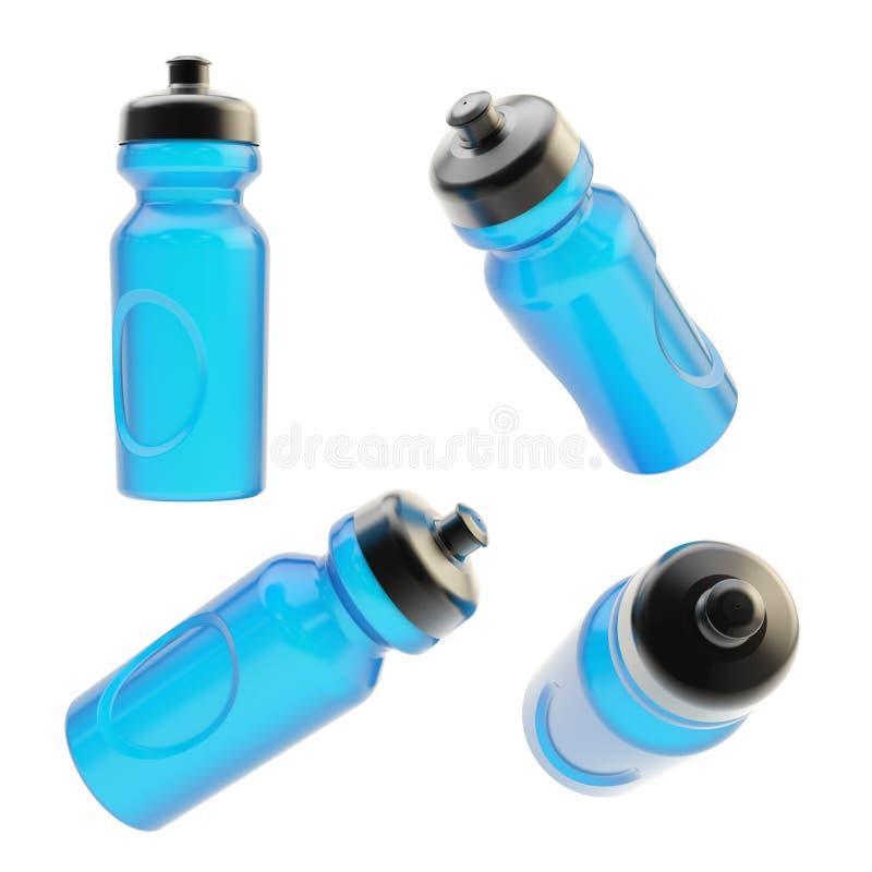 Выпивая изолированная бутылка спорта иллюстрация штока