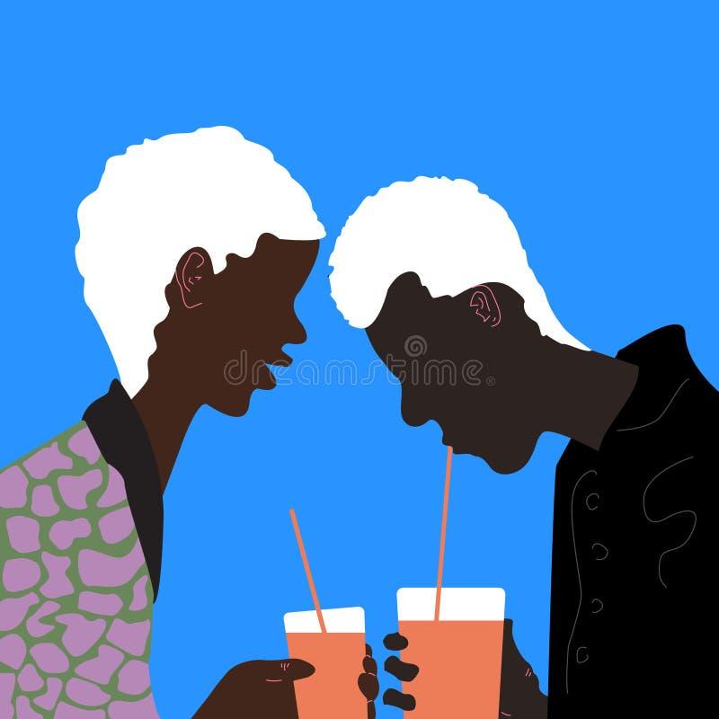 Выпивая мальчики бесплатная иллюстрация