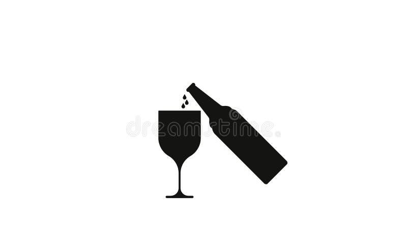 Выпивая пиво алкоголя, знак алкоголя иллюстрация вектора