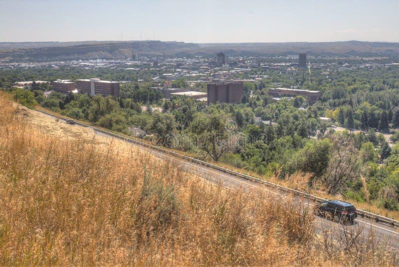 Выписывания счетов, Монтана как увидено сверху в лете стоковое фото
