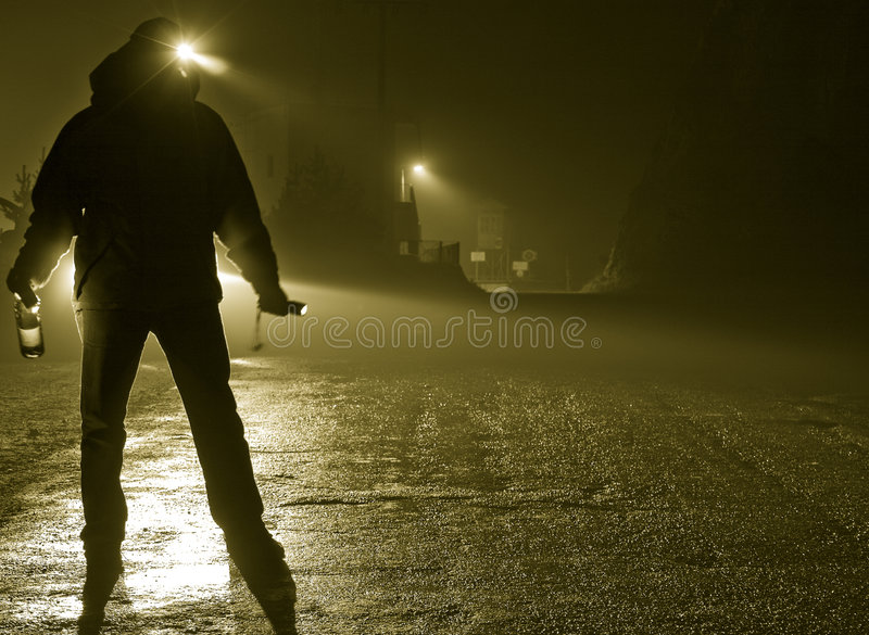 выпитая улица человека стоковая фотография rf
