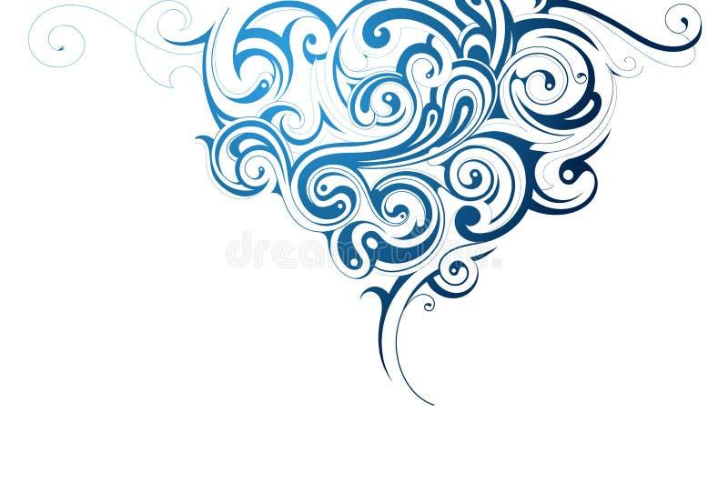 Выплеск воды иллюстрация вектора