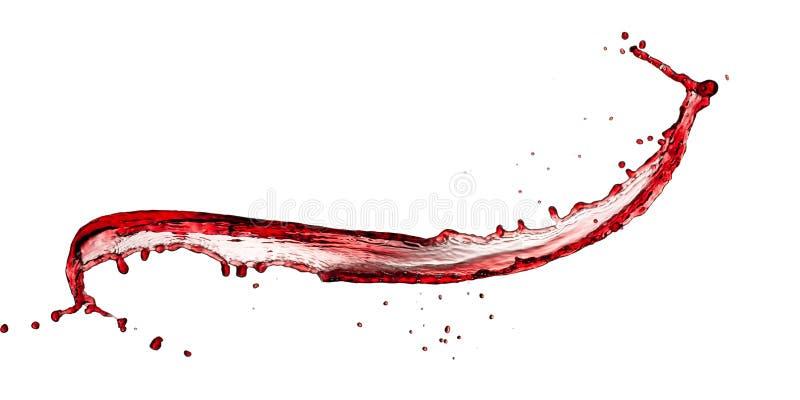 Выплеск красного вина стоковое изображение