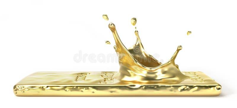 Выплеск от изоляции бара золота бесплатная иллюстрация