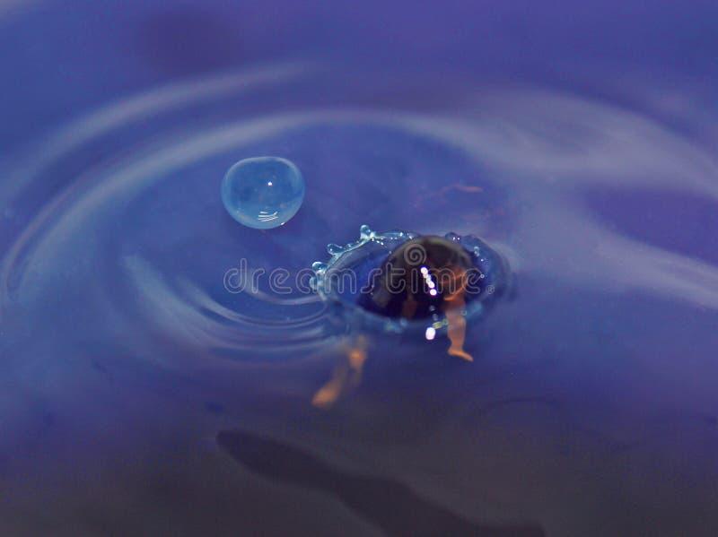 Выплеск от капельки воды стоковое фото rf