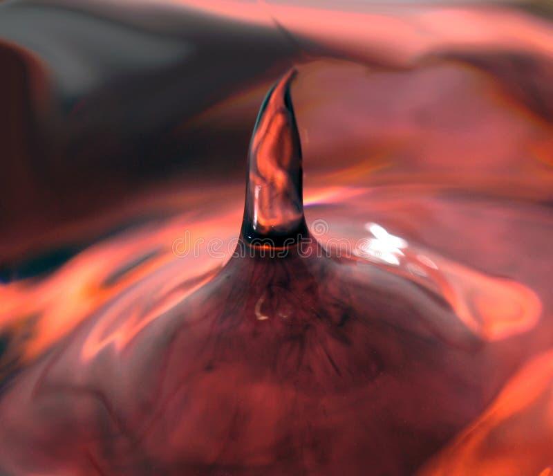Выплеск от капельки воды стоковая фотография rf
