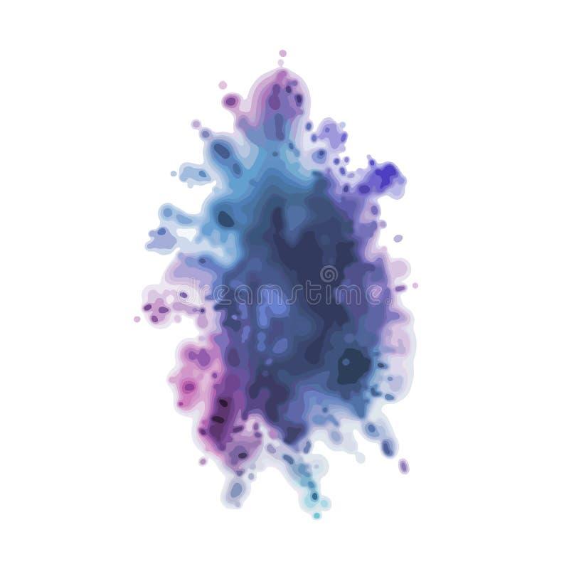 Выплеск пыли красочный r Чернила в воде Счастливое Holi, индийский фестиваль весны, концепция праздника Элемент вектора бесплатная иллюстрация