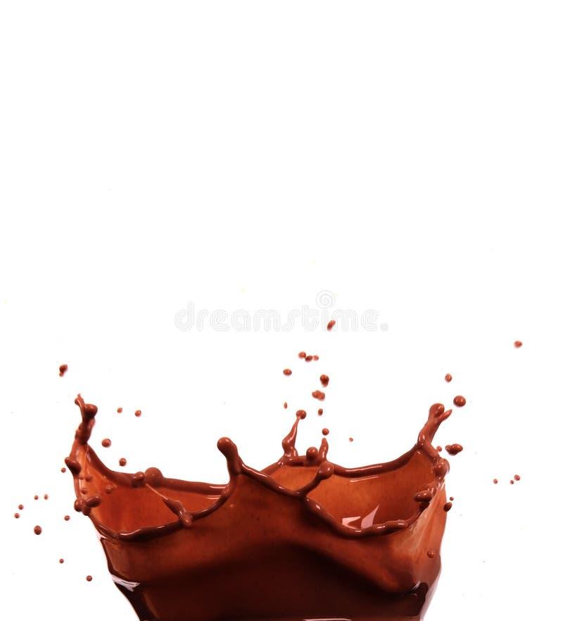 выплеск шоколада стоковые изображения