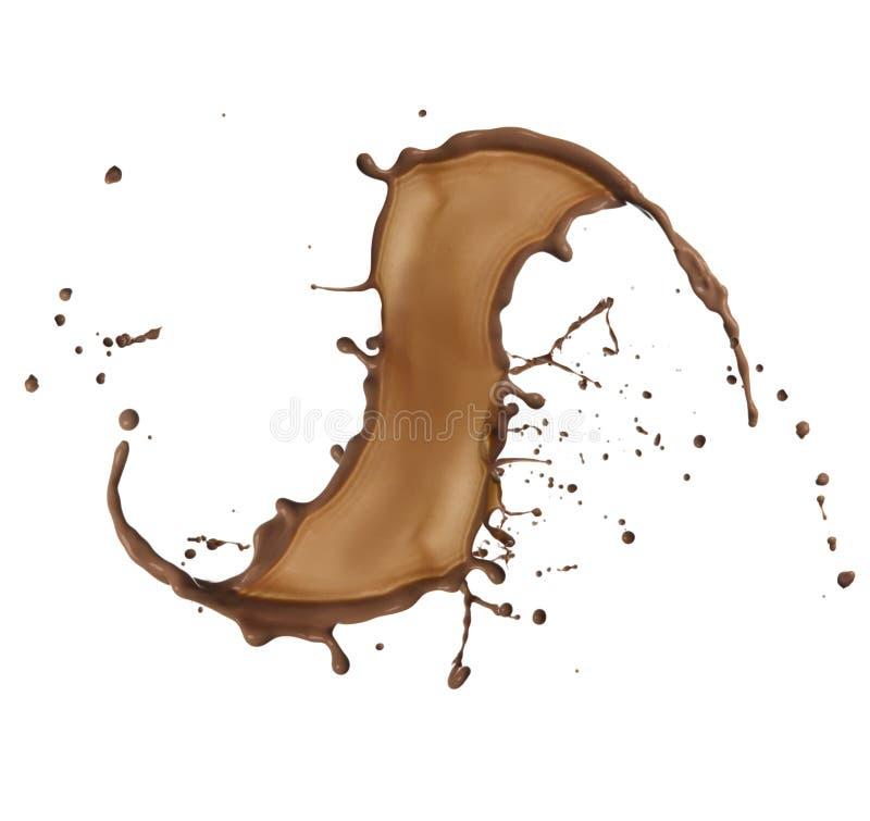 Выплеск шоколада стоковые фотографии rf
