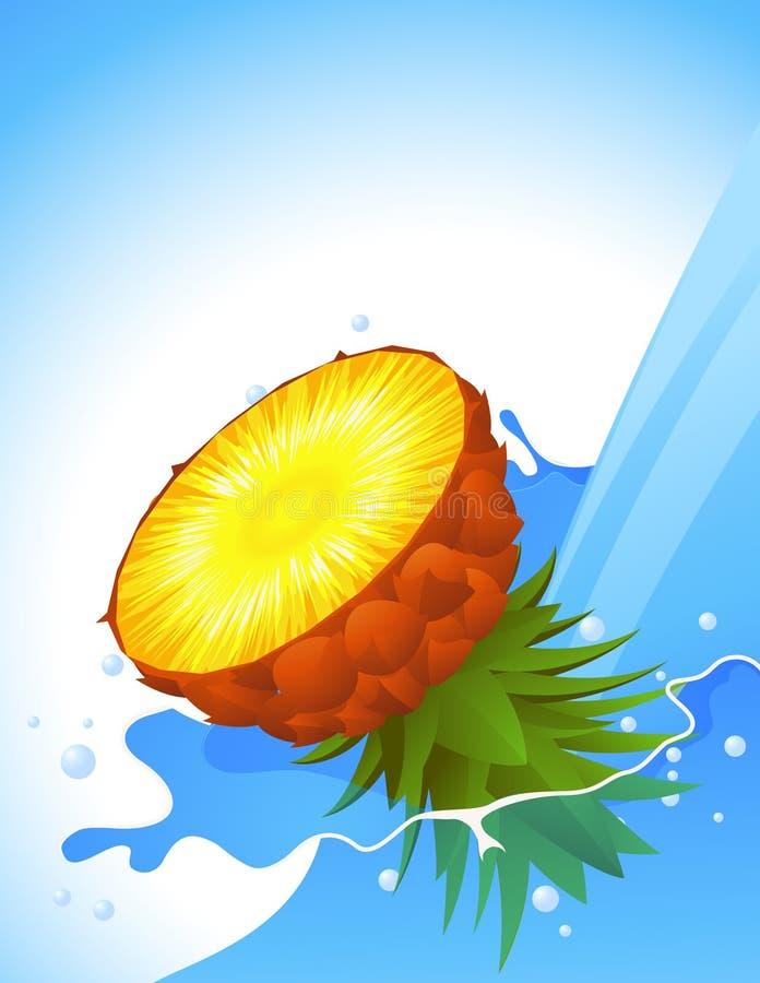 выплеск ananas иллюстрация вектора