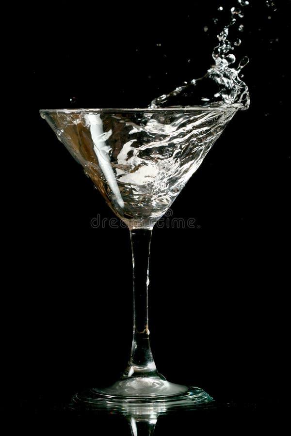 выплеск martini стоковое изображение