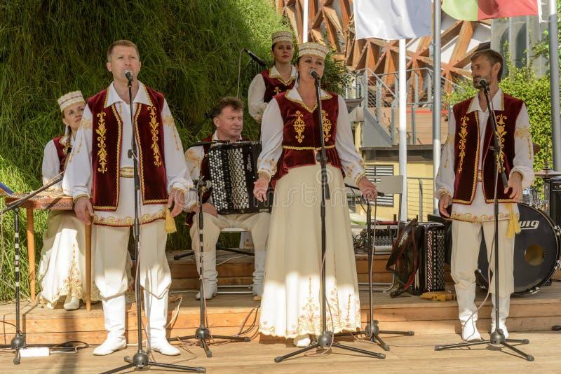 Выполнять внешний павильон 04 Беларуси, милан 2015 ЭКСПО стоковая фотография