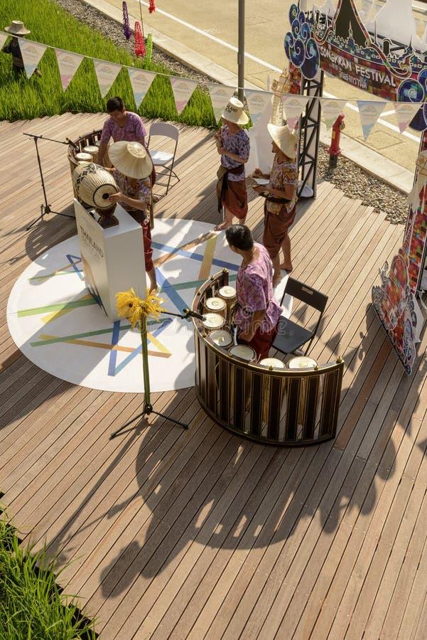 Выполнять внешний павильон Таиланда, милан 2015 ЭКСПО стоковая фотография