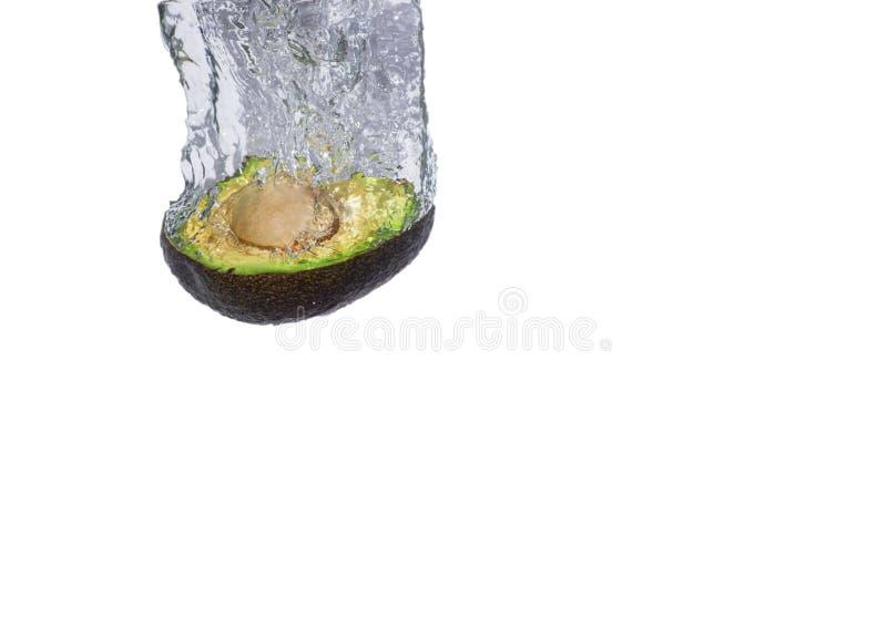 Выплеск авокадоа стоковое изображение rf