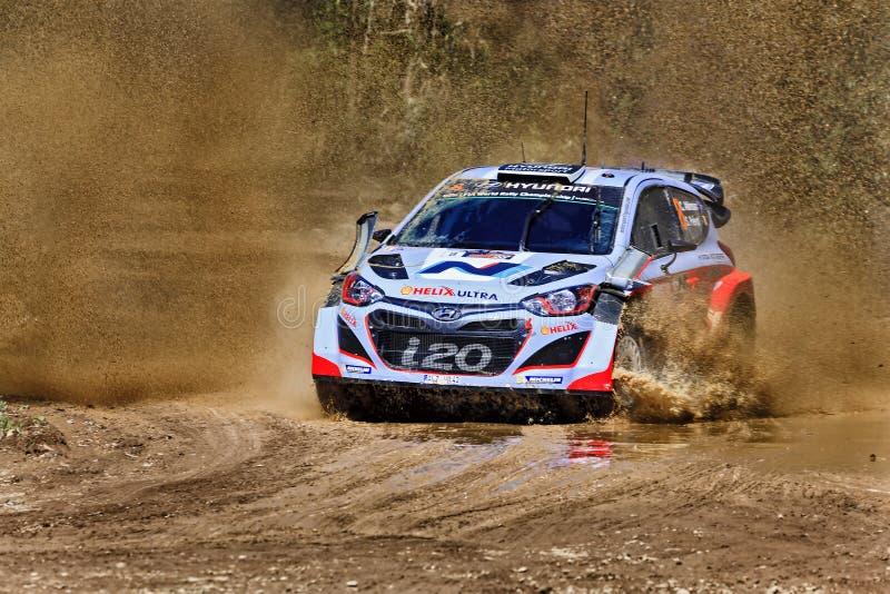 Выплеск грязи WRC Hyundai стоковые фотографии rf