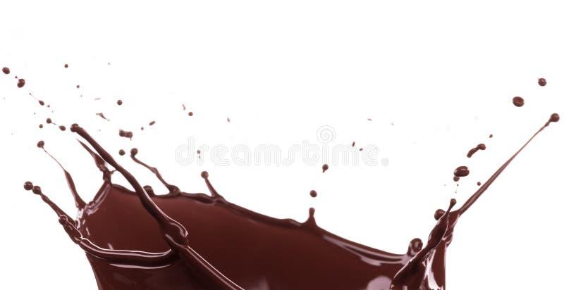 Выплеск коричневатого шоколада стоковая фотография rf