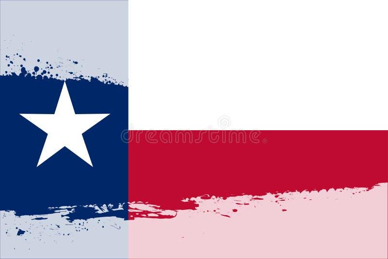 Выплеск флага Техаса иллюстрация вектора