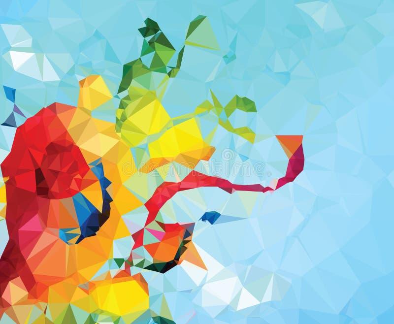 Выплеск цвета картины геометрии треугольника предпосылки абстрактный иллюстрация вектора