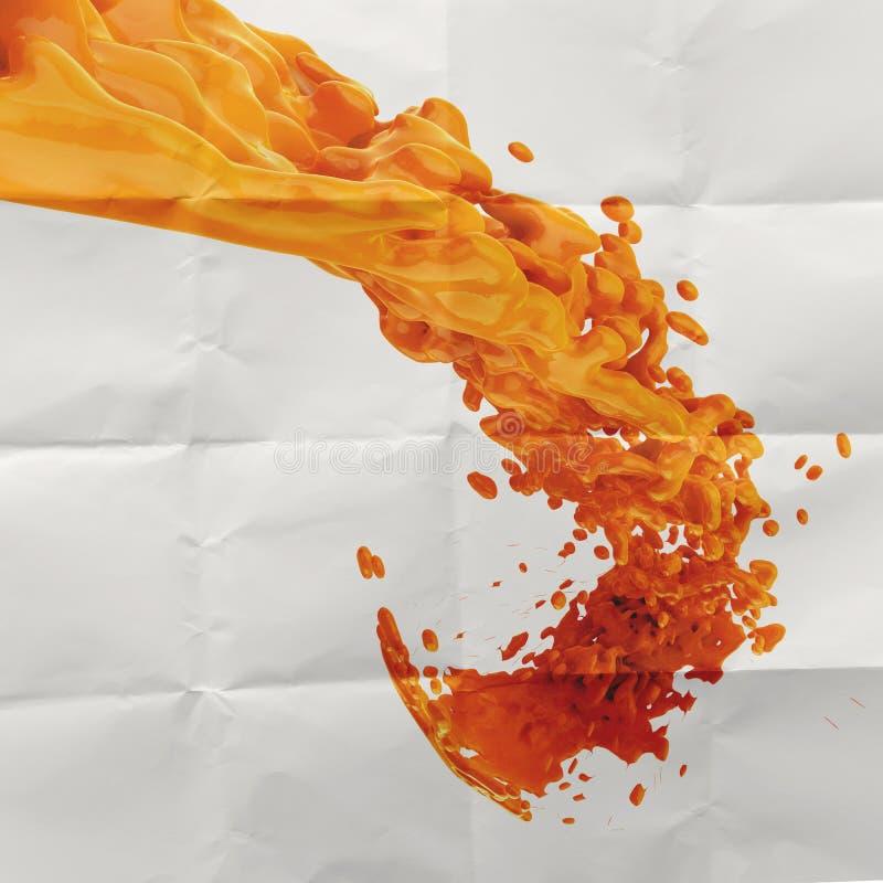 выплеск цвета краски 3D оранжевый бесплатная иллюстрация