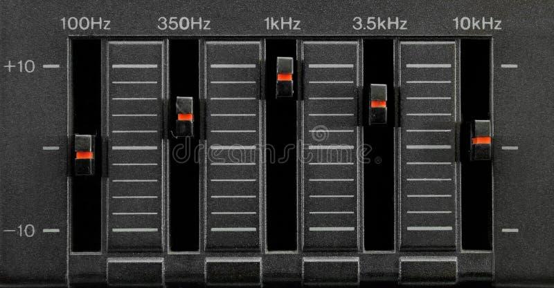выравниватель 5 полосы черный стоковые изображения rf