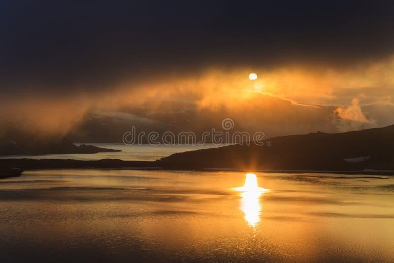 Выравнивать ландшафт Норвегии стоковая фотография rf