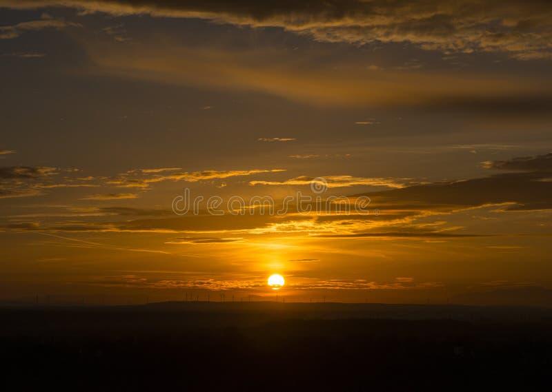 Выравнивать заход солнца в Devin стоковые изображения rf