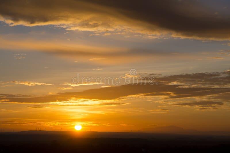 Выравнивать заход солнца в Devin стоковое фото rf