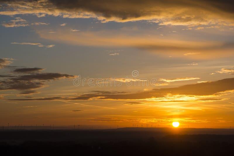 Выравнивать заход солнца в Devin стоковое изображение