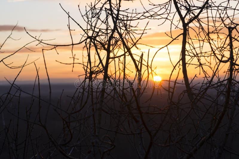 Выравнивать заход солнца в Devin стоковые изображения