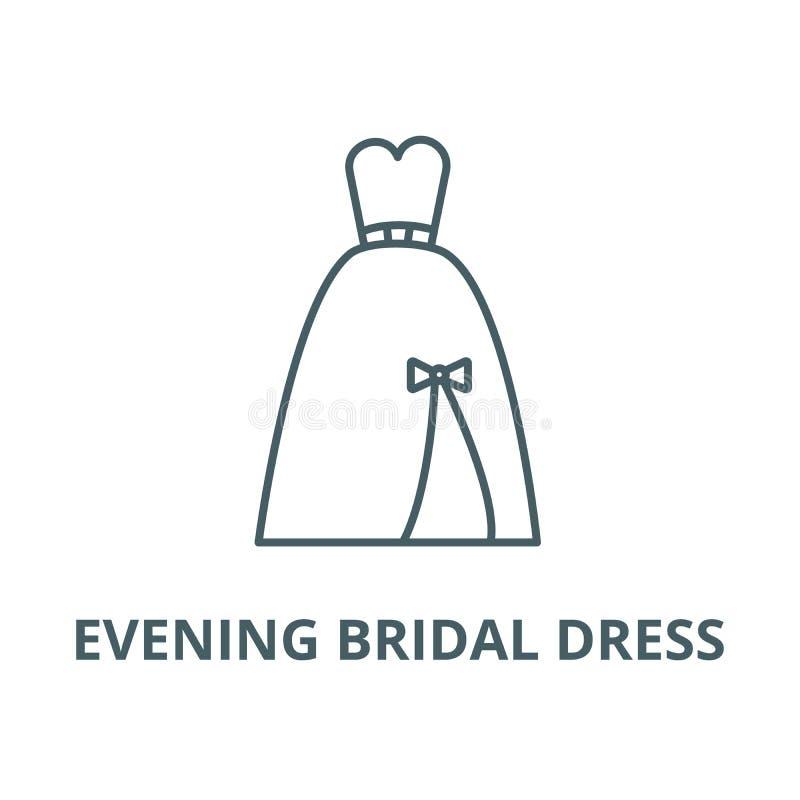 Выравнивать bridal линию значок платья, вектор Выравнивать bridal знак план бесплатная иллюстрация