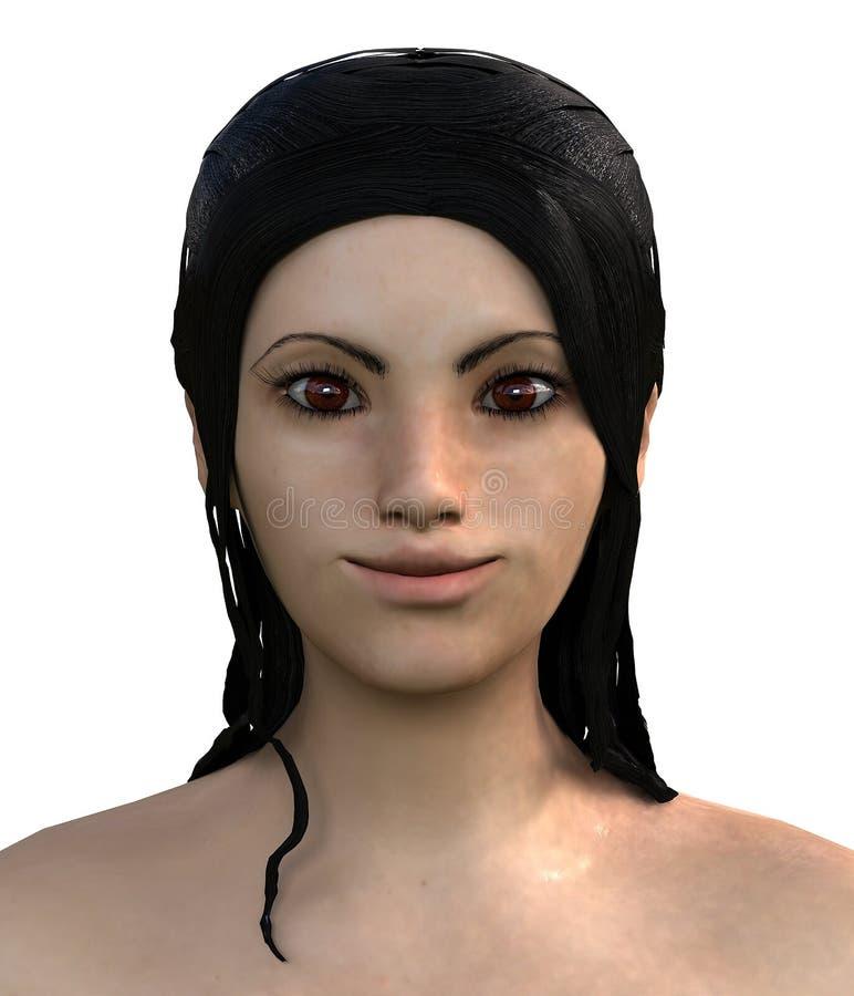 Выражение милой азиатской девушки счастливое стоковое фото