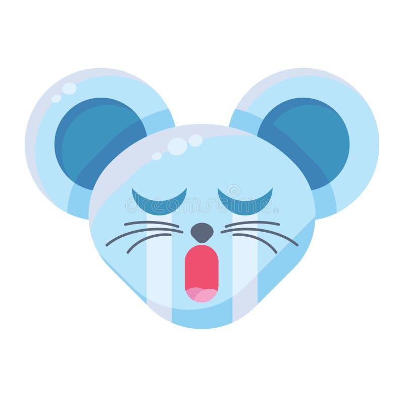 Выражение плакса для Emoji Cute Funny Animal Mouse бесплатная иллюстрация