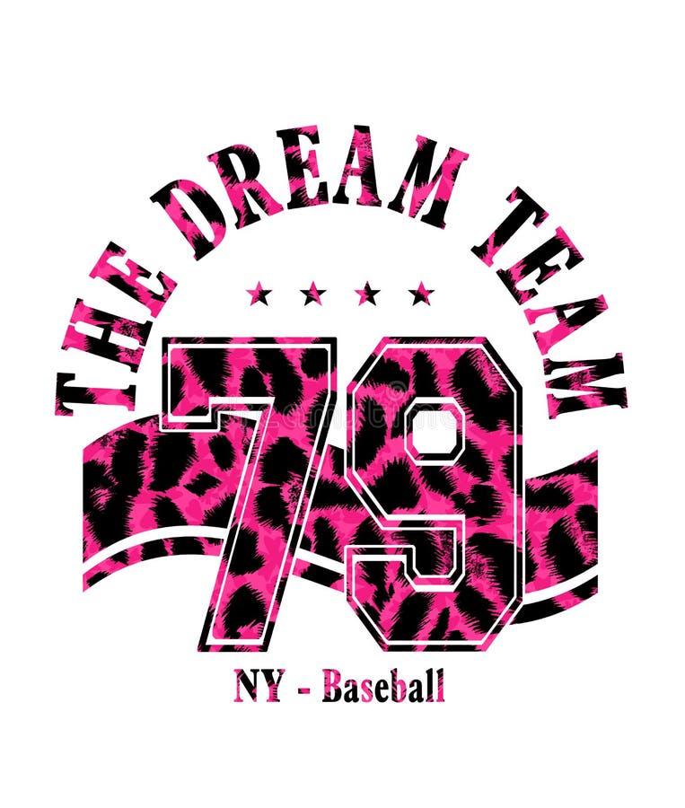 """Выражение: """"оформление команды мечты """", графики футболки иллюстрация штока"""