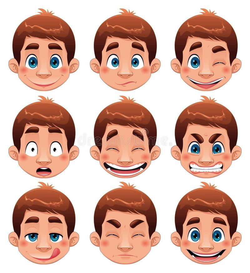 выражения мальчика бесплатная иллюстрация