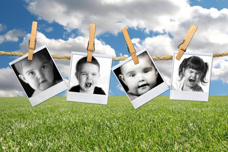 выражения ребенка много приполюсных детенышей малыша стоковое изображение