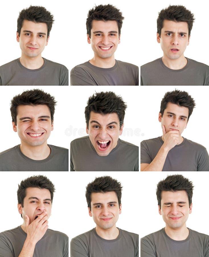 Выражения стороны человека стоковое изображение rf