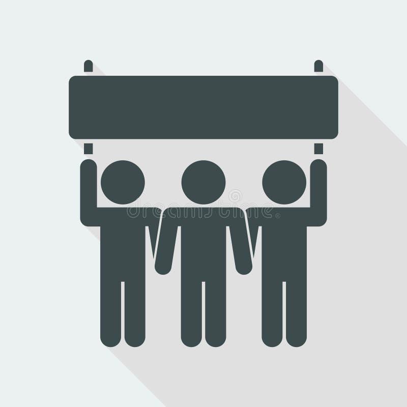 Выраженность демонстрантов или сторонники спорта - Vector значок для вебсайта или применения компьютера бесплатная иллюстрация