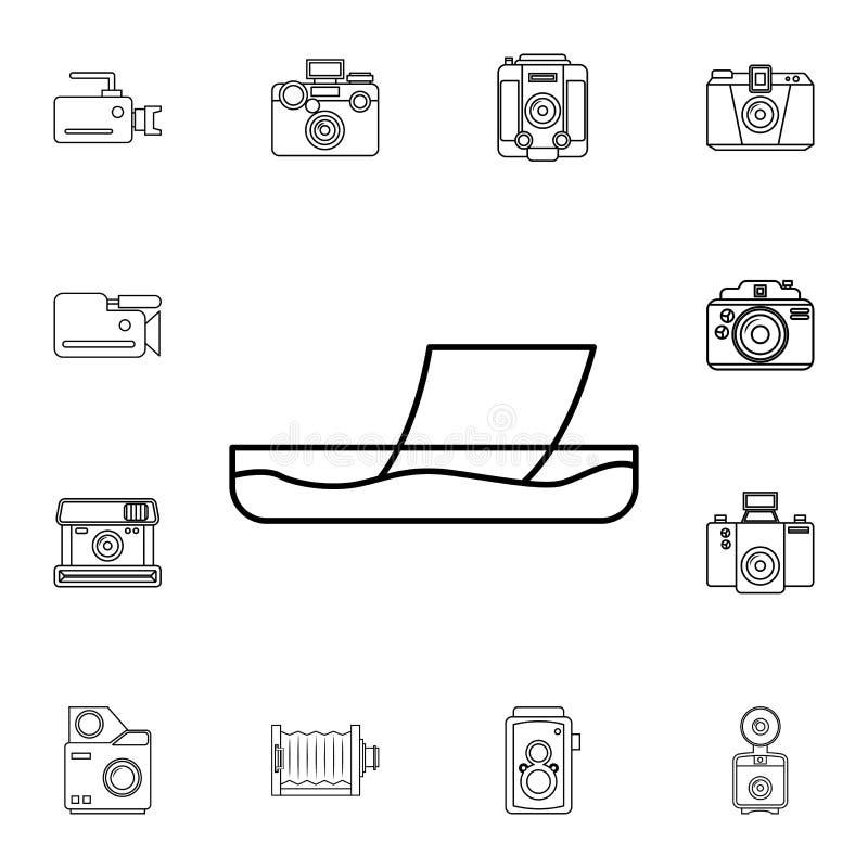 выраженность значка фото Детальный комплект значков камеры фото Наградной качественный значок графического дизайна Один из значко иллюстрация вектора