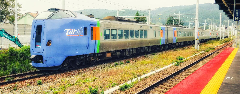 выразьте поезд японца стоковые изображения